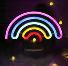 Rainbow unicorn flamingo cactus moon cloud led neon light for dorm and bedroom decoration