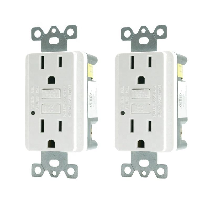 <span class=keywords><strong>GFCI</strong></span> Outlet 15 Amp Receptacle Indoor oder Outdoor Use LED Indicator