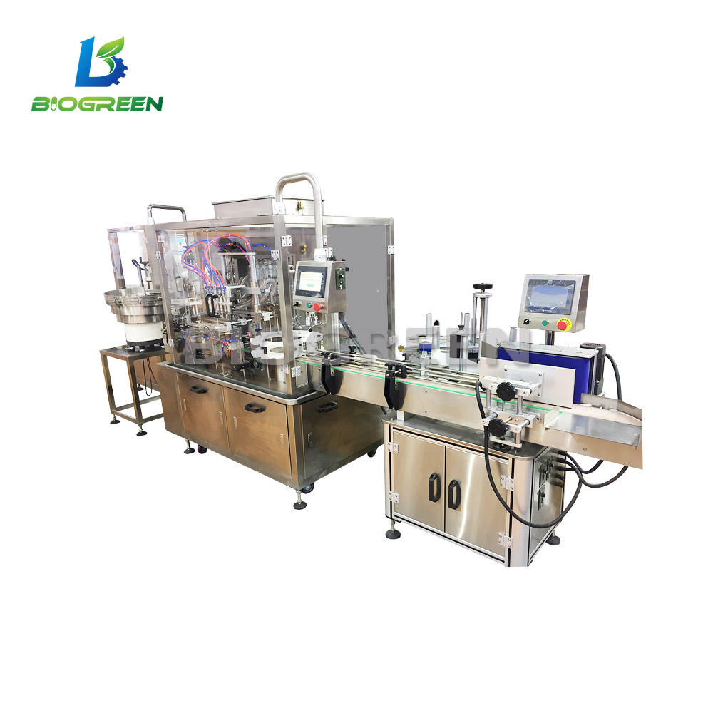 CE/ISO Standard Data Entry Projects Small Glass and Plastic Automatic Liquid Filling Machine