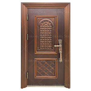 Modern Exterior New Style Factory Supply Cheap Front Security Steel Door