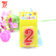 Digital birthday cake decoration birthday number candle for party