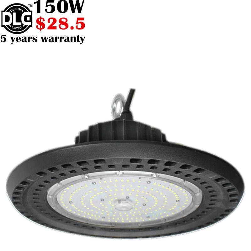 5 years warranty SAA ETL DLC TUV 150w 200w 240w highbay led light with pc or aluminum reflector 100w ufo led high bay light