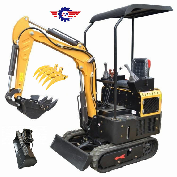 China 1300kg 1.3t mini excavator use farm diggers with high power cylinder micro excavators