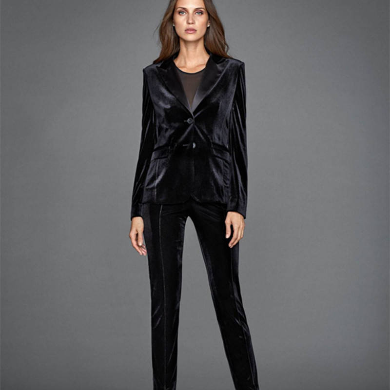 Nanchang Xihui Textured Suit Ladies Slim Velvet Suit Style Coat Turkish Women Suits