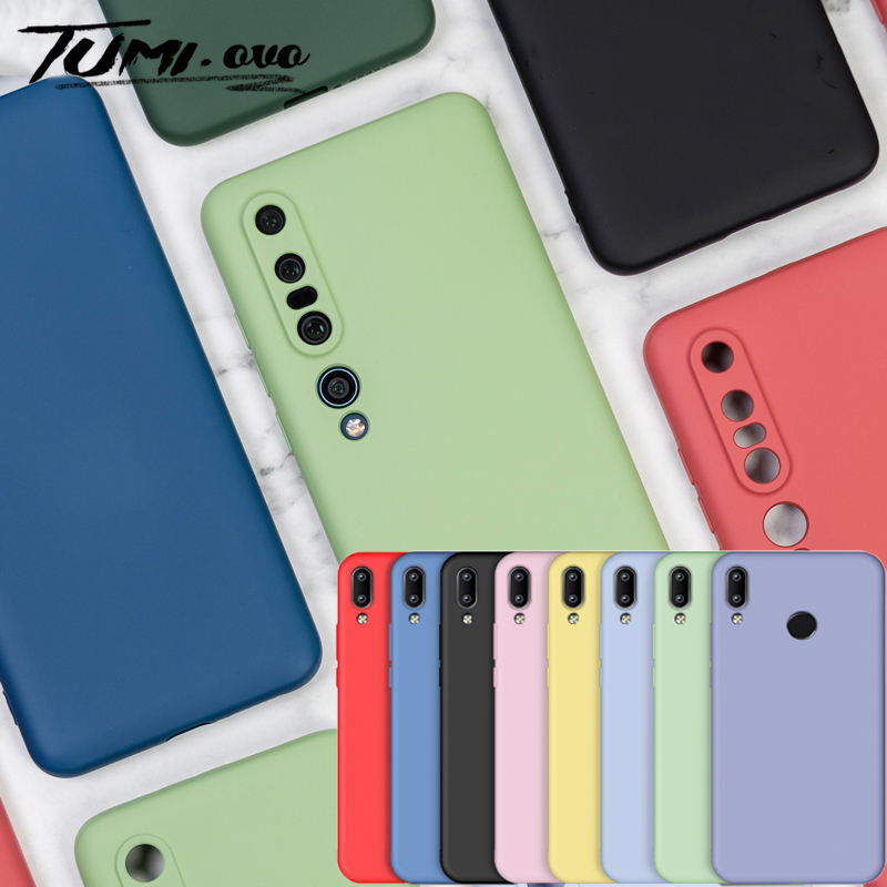 Liquid Silicone Case For Redmi Note 7 8 10 Pro 8A 7A 6A 6 K20 Cover for Xiaomi Mi 10 9 SE 8 9T Pro CC9 CC9E 5X 6X A1 A2 A3 Lite
