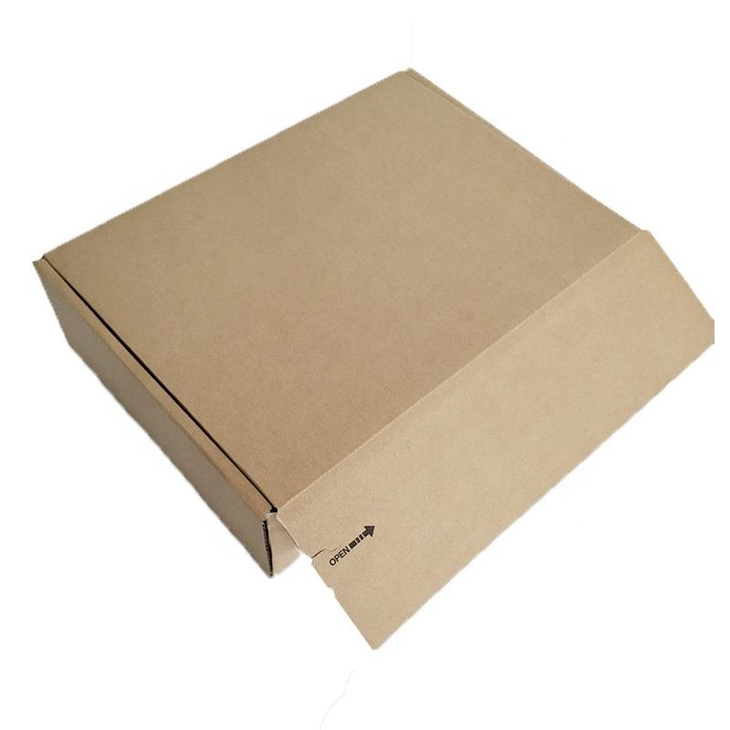 Self Adhesive and Peel Strip Subscription Tuck Closure Box Brown Shipping Box
