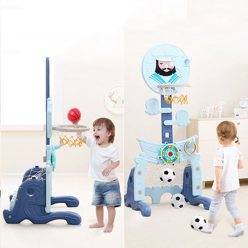 Updated children adjustable mini portable toys kids basketball hoop stand set