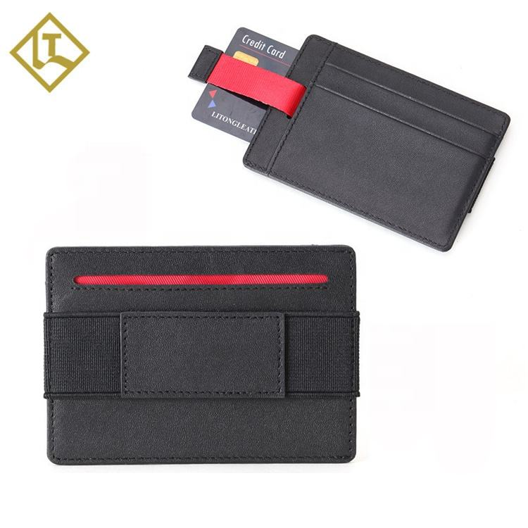 One-Stop Service [ Card Case ] Mens Card Wallet Men's Personalized Designer Brand Minimalist Genuine Leather Business Credit Card Holder Case Smart Rfid Mens Slim Wallet