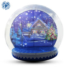 Newest Christmas Inflatable Human Size Snow Globe With Advertising Background