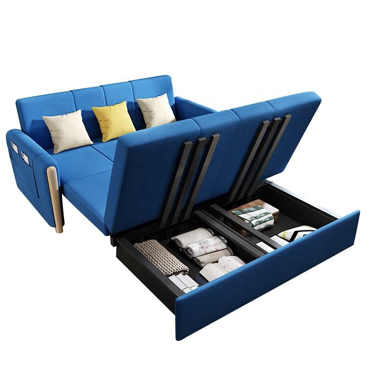 Wholesale China corner sofa cum bed with storage modern queen size fabric smart sofa bed furniture