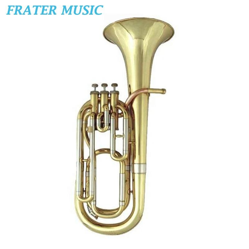 Popular gold lacquer Bb key Baritone horn (JBR-100)