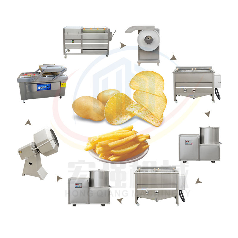 Best Quality French Fries And Potato Chips Making Machine Line Fried Automatic