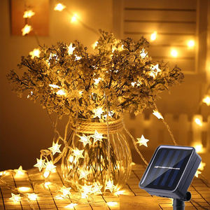 Decorative Battery Operated Waterproof Outdoor Star Led Fairy String Lights Christmas Solar Led Fairy Lights