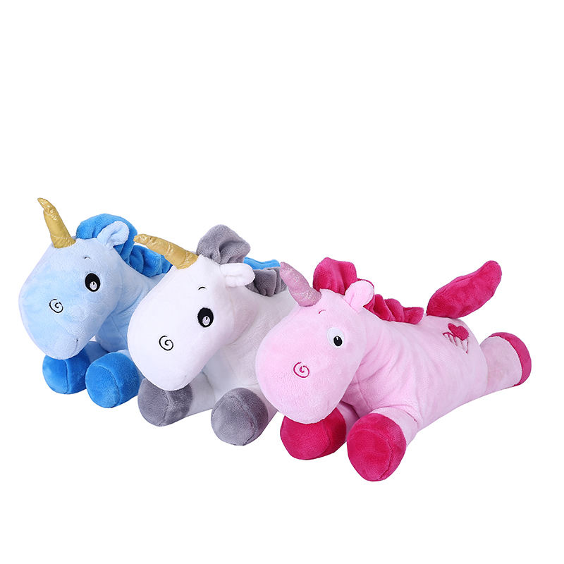 Wholesale new design plush animal pillow best creative unicorn colorful bolster stuffed toys