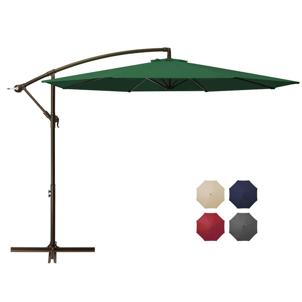 LED patio umbrella replacement canopy Luxury Foldable Sunshade outdoor yard patio cantilever parasol garden umbrella