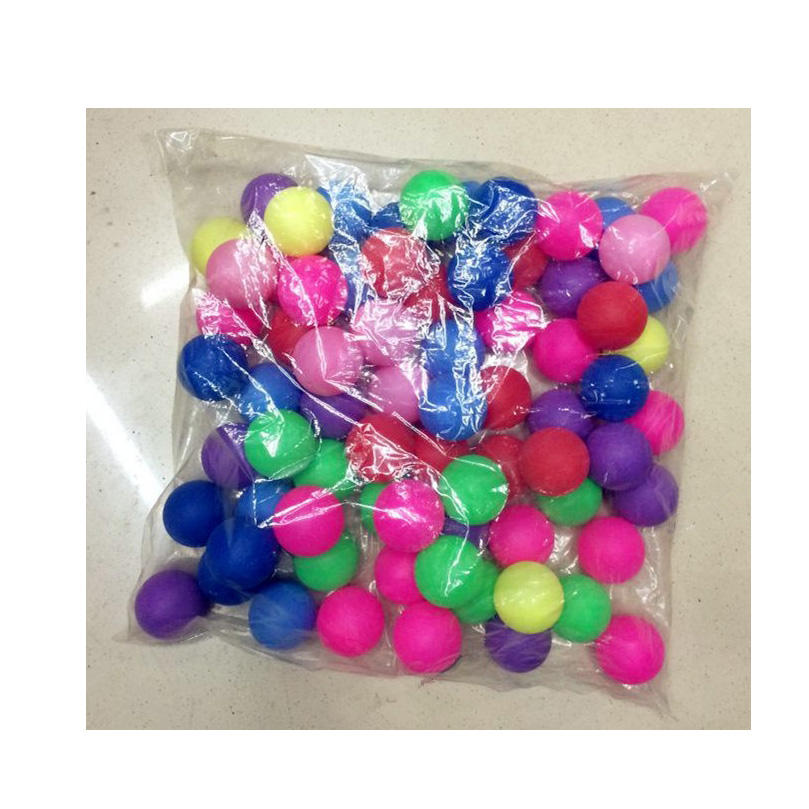 Factory Wholesale 40mm Cheap Price Plastic Table Tennis Ball Multi Colour Color Ping Pong Ball