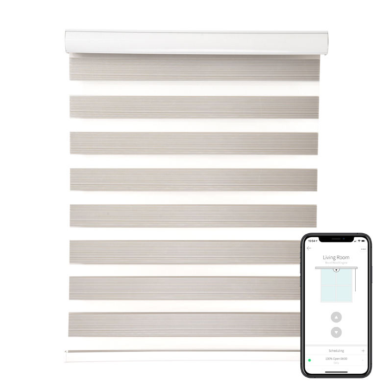 Amazon ebay hot seller custom remort control motorized zebra blinds and window roller blinds with blackout silent motor