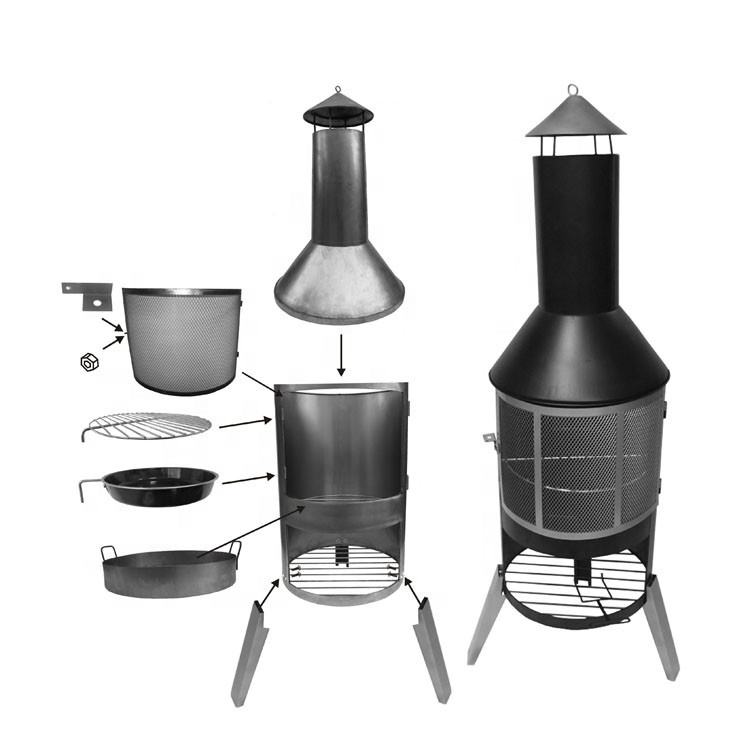 BBQ GRILL High Quality Best Price Easily Assembled Multi-purpose Footed Large Outdoor Chiminea
