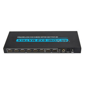 6 puertos hdmi splitter | 6x2 HDMI Matrix Switch 4K 6 Port True Matrix Switch Splitter 6 in 2 out