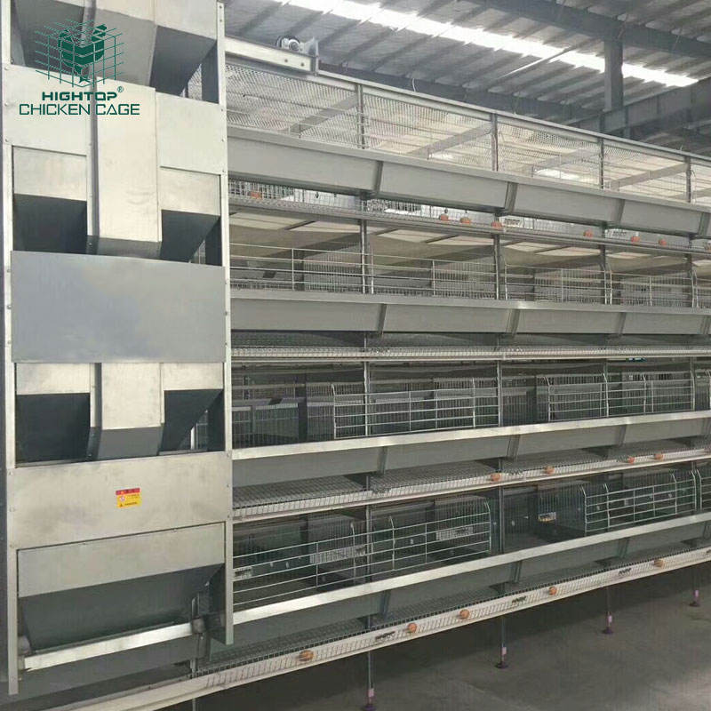 Poultry Farm 4 tier Automatic Laying Hen/Egg Layer Battery H Type Chicken Cages System for sale