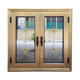 Golden color aluminium window designs