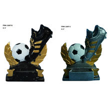Arts and crafts soccer award trophy colors resin statue decoration souvenir sculptures tournaments figurines collectible figures