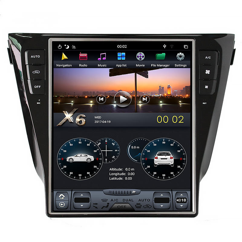 Android auto stereo kenwood kopfstütze montieren video dvd player radio pioneer gps navigation für Nissan X-Trail/Qashqai 2014-2016