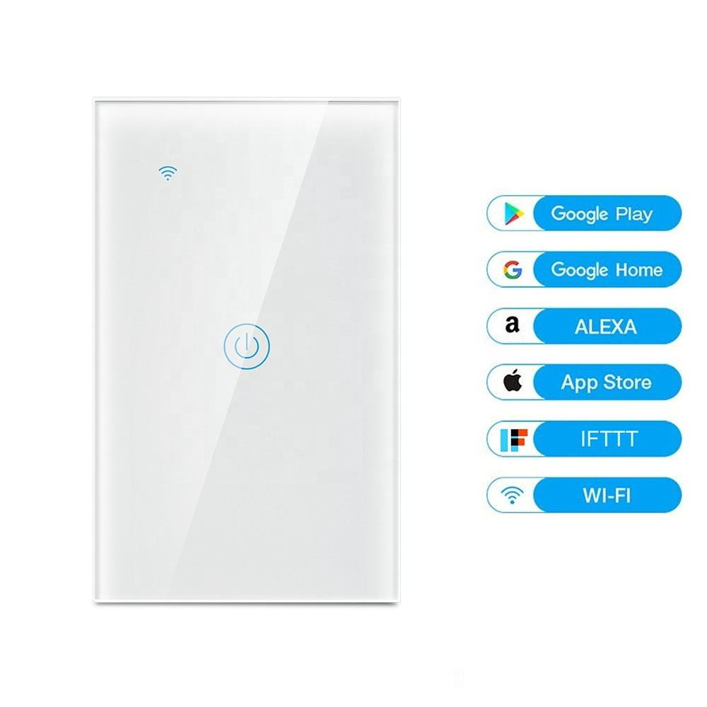 Smart Wifi AU Touch light Switch No Neutral Wire Required Smart Home Tuya App Wireless Remote Switch 1 gang 170-240V Support