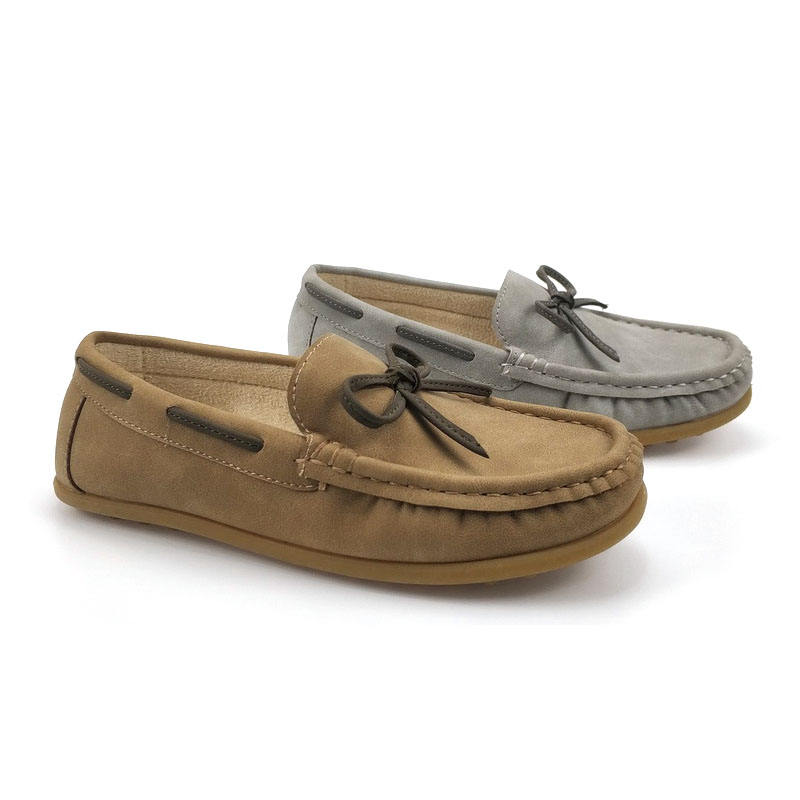 Kids New Arrival Cattle and amraphel soft insole bowknot Moccasin Gommino Fashion Flat Loafers walking Boat shoe for boys