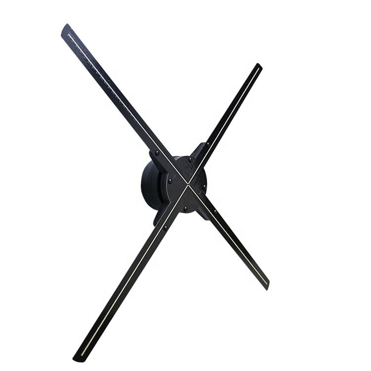 HDFocus 4 Blades Holographic Advertising 65cm LED Display 3D Hologram Fan with Bluetooth