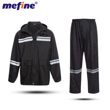 Sale Fashionable Waterproof Heavy Navy Duty Raincoat Polyester Adult Rainsuit Raincoat Pants Set For Rain