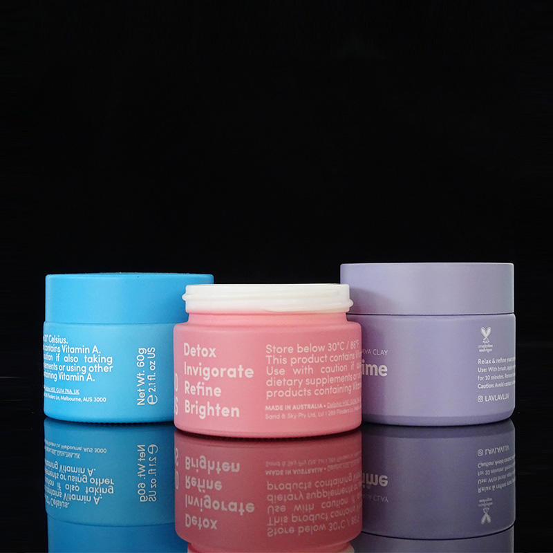 Custom painting matte pink ceramic glass jar 15ml 20ml 30ml 50ml 100ml opal white porcelain glass cosmetic cream jar with lid