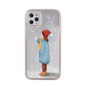 2020 newest Merry Christmas and Happy New Year winter white stocking snowman present gift quicksand custom cell phone cases