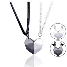 Matching Necklaces for Couples Jewelry for Him and Her, Magnetic Love Heart Pendant Necklace for Couples, Romanti