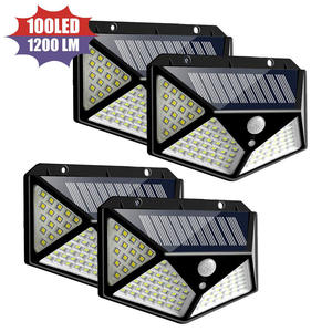 Outdoor ip65 270 gradi 100 led del sensore di movimento applique da parete solare
