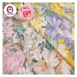 Top quality china wholesale plain printed polyester cheap pure chiffon stocklots fabric for lady dress