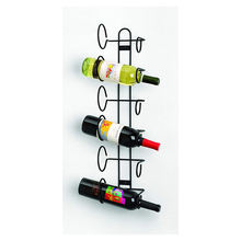 Modern High Quality simple wine bottle rack iron wall hanging wine bottle shelf  living room