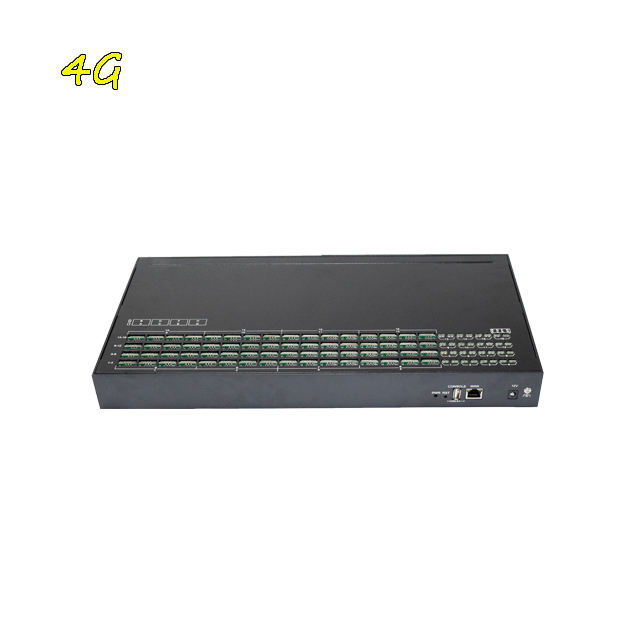 Black Color GOIP 16 Port 4G LTE Bulk SMS Gateway 128 Gsm Sim Slot Support API HTTP Free Software And IMEI Change