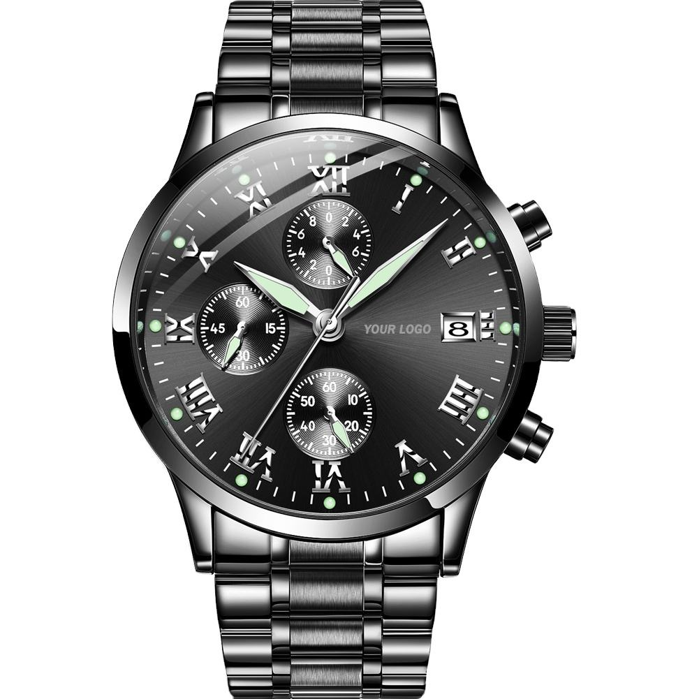 Wholesales Chronograph Watch Custom Logo Private Label OEM ODM Customized Logo Men Wrist Watches