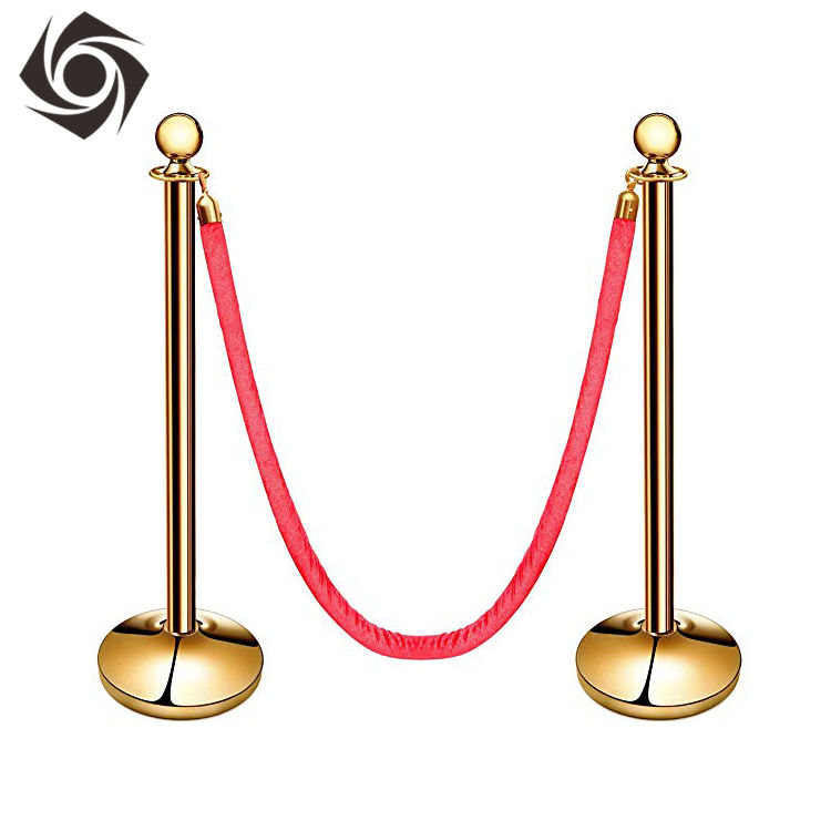 Customizable Design 15M 16 Inch 600Mm Crowd Control Stanchion Red Velvet Rope Car Show Stanchion