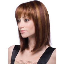 Europe and the United States wig popular women's fashion straight hair headgear long and medium-term hair