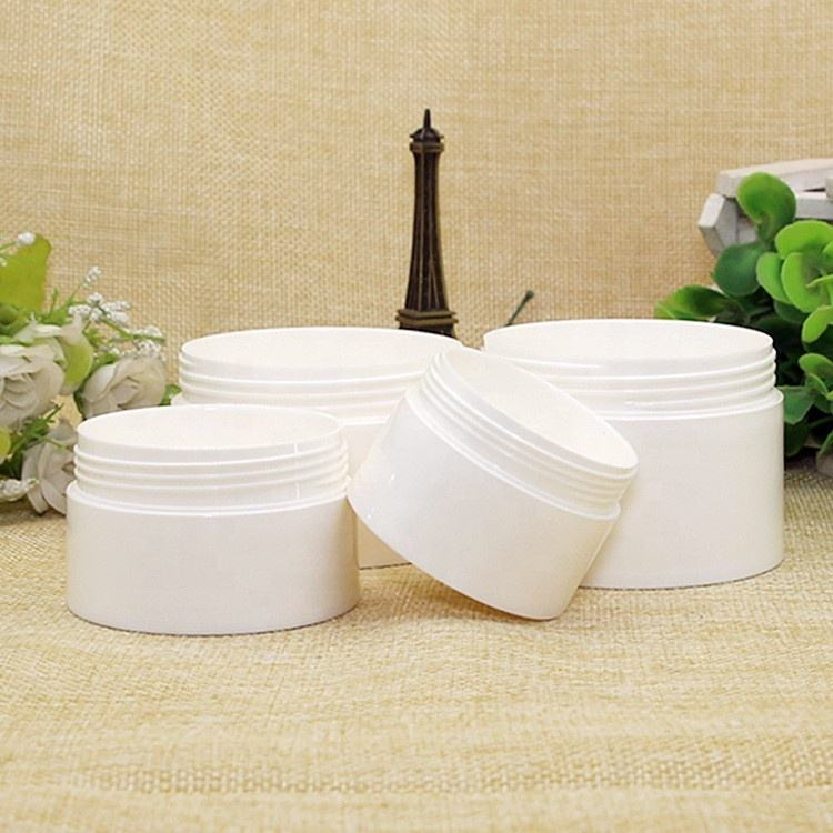 Plastic cosmetic packaging cream jar container 3ml 5ml 10ml 30ml 50ml 100ml 120ml 1oz 4oz cosmetic cream jar