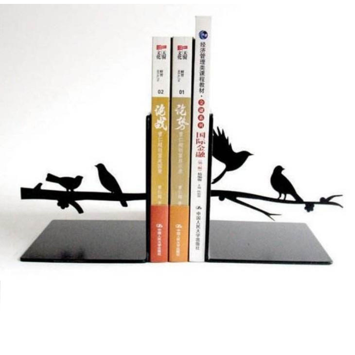 bird design Bookends,Decorative Metal Book Ends Supports for Shelves