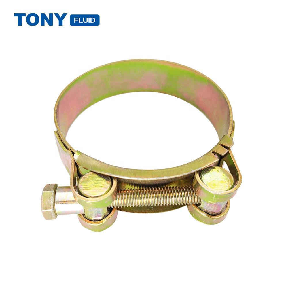 Carbon Steel Industrial Heavy Duty Hose Clamp Metal T-bolt Hose Clamp
