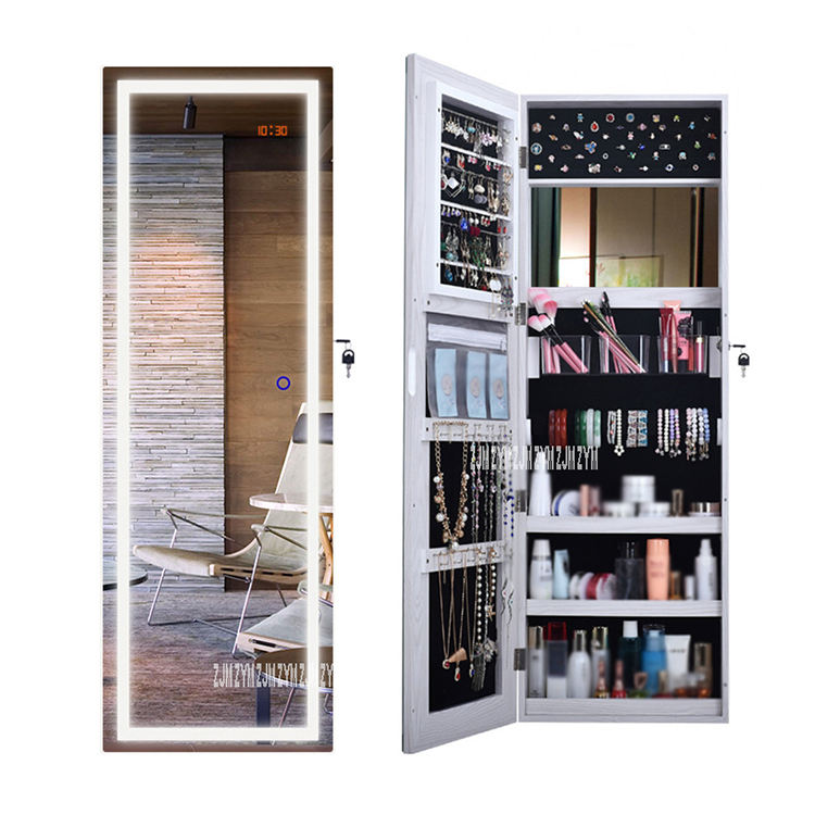 Full-Length Mirror Cabinet Multifunctional Floor Type Intelligent Jewelry <span class=keywords><strong>Armoire</strong></span> Cabinet