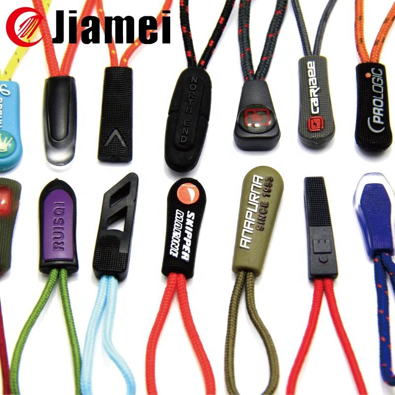 Custom Glow in the Dark Zipper Pull Puller for Outdoor Clothing