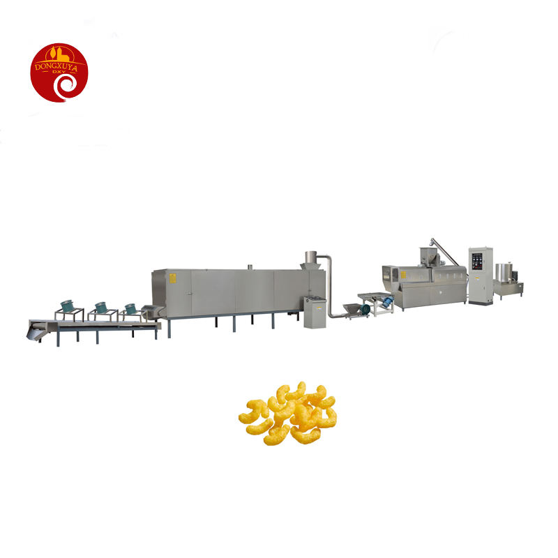 Twin Screw Extruder Snack Food Machine Technology High-productivity Puffed Chesse Ball Snack Food Making Machines
