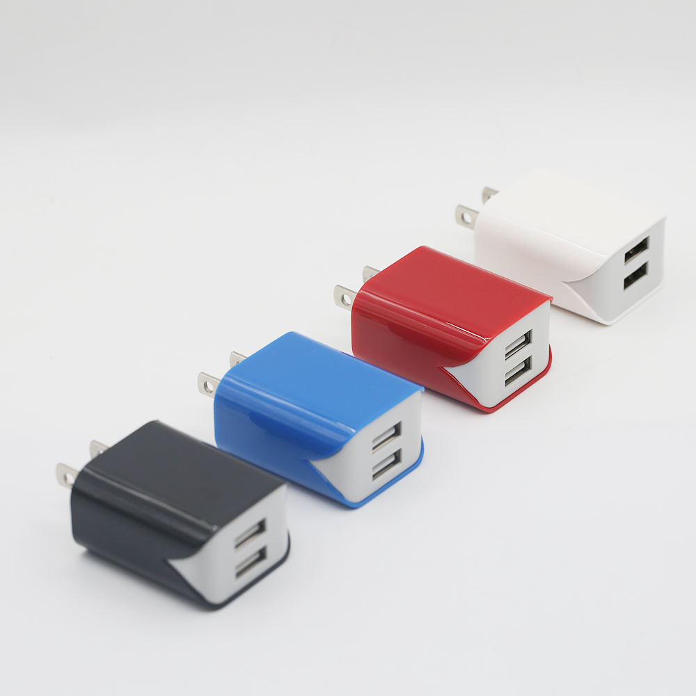 Wholesale Amazon custom new fast mobile wall plug us adapter ul certified smart dual port usb cell phone charger
