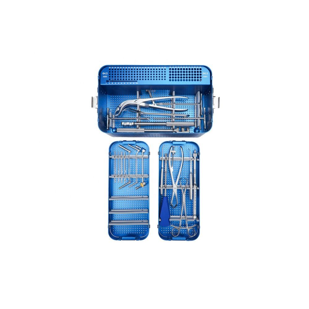 CE & ISO Marked Bone Surgery Orthopedic Instruments Large Fragment Instrument Set for Trauma Plate Surgical Implants