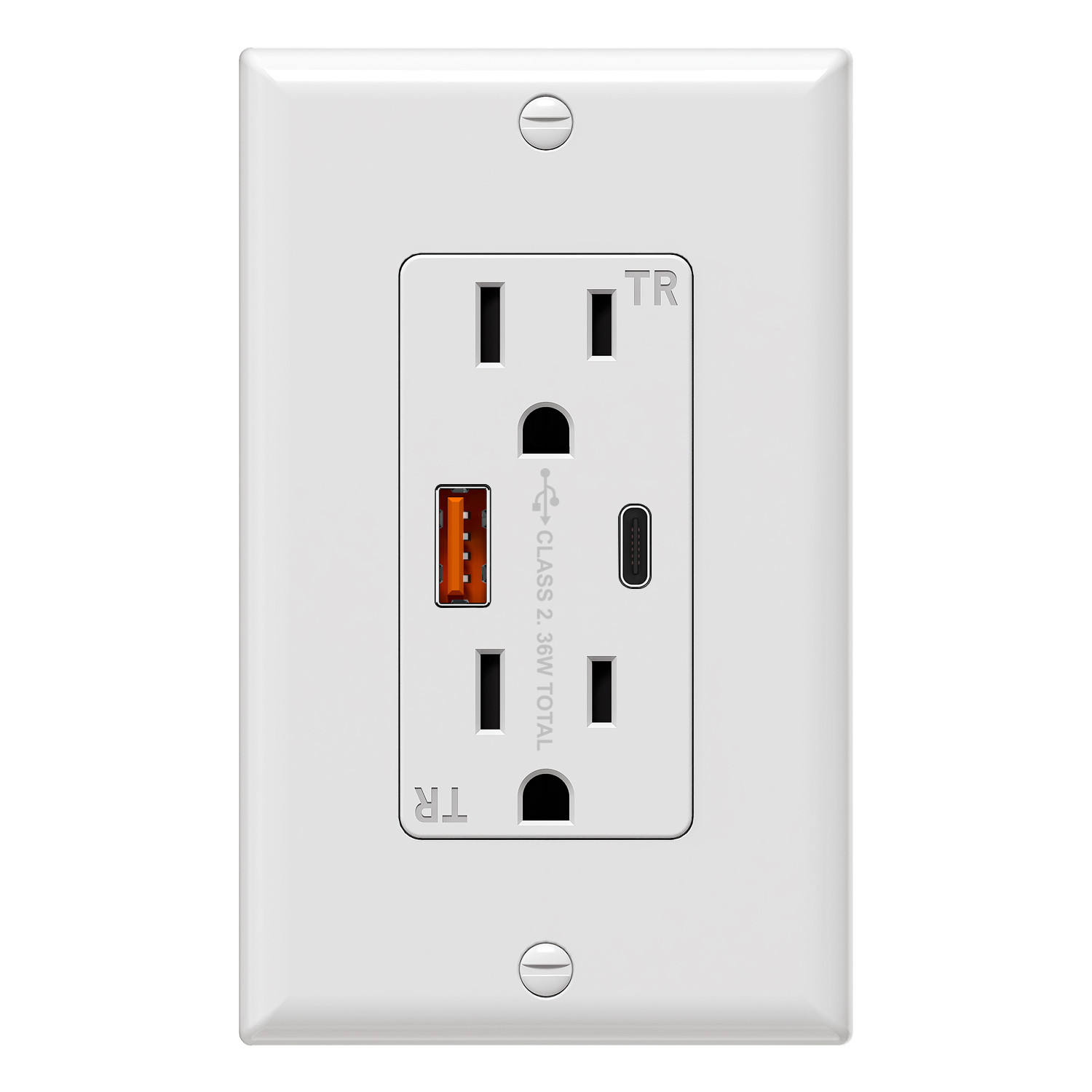 20A type C USB Wall outlet USB Wall Charge TR receptacle electrical outlet